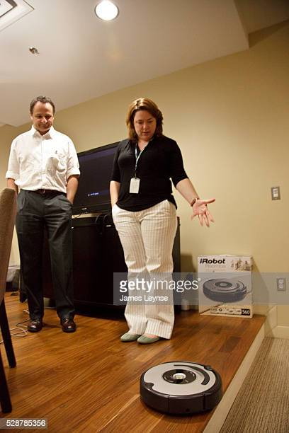 Demonstration of the Roomba vacuum cleaner at the headquarters of iRobot in Bedford Massachusetts iRobot's most famous product is the Roomba...