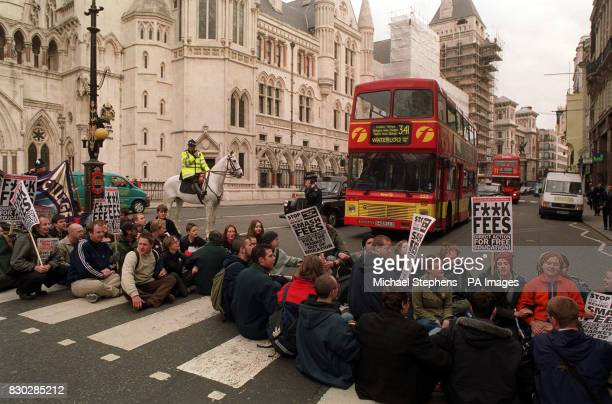A demonstration outside the High Court against student fees * Thousands of students were expected to converge on the capital for a demonstration in...