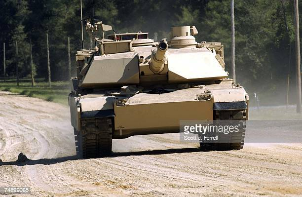 DEMONSTRATIONAn Abrams A1 tank during a demonstration of future combat systems for Army Secretary Francis Harvey Army Chief of Staff General Peter...