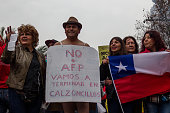 A demonstrator in his underwear covered only with a sign with the text quotNo more AFP we will finish in underpants quot Thousand of workers students...