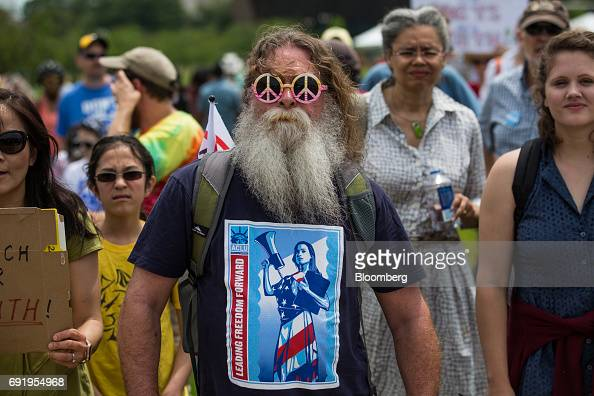 Demonstrators Attend The March For Truth Event In Washington D.C. : News Photo