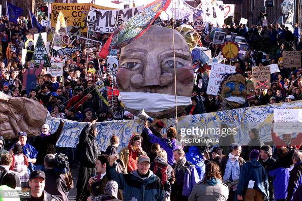 the anti world trade organization protest in seattle Hands joined in solidarity, anti-globalization protesters in  seattle was hosting a  summit meeting of the world trade  but many wto delegates said the  protesters had played a significant role in scuttling the meeting 2.