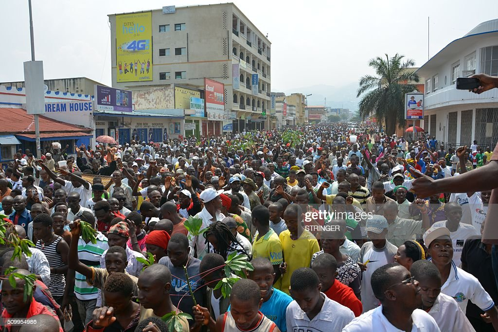 Demonstrators march on February 13, 2016 in Bujumbura during a protest against Rwanda. Rwanda is to relocate refugees from Burundi to other countries, amid accusations Kigali was meddling in the affairs of its troubled neighbour. UN experts told the Security Council that Rwanda has recruited and trained refugees from Burundi, among them children, who wanted to remove Burundi's President Pierre Nkurunziza from power. Burundi has repeatedly accused Rwanda of backing rebels intent on overthrowing the government in Bujumbura. Kigali has fiercely denied the accusations. Burundi has been in turmoil since Nkurunziza announced plans in April to run for a third term, which he went on to win. Hundreds of people have been killed and at least 230,000 have fled the country. Some 75,000 Burundian refugees are in Rwanda, according to the UN refugee agency, UNHCR. / AFP / STRINGER