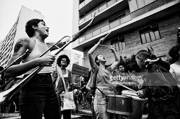 Os manifestantes