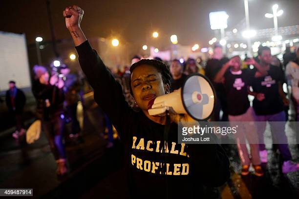 Demonstrators protest the shooting death of Michael Brown November 23 2014 in St Louis Missouri Brown a 18yearold black male teenager was fatally...
