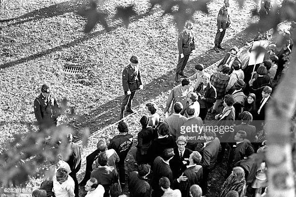 70000 demonstrators rally during an AntiWar Protest on October 21 1967 in Washington DC