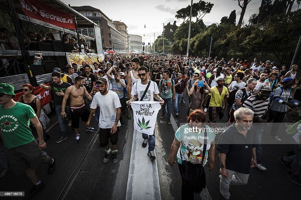 Demonstrators take part in the Global Marijuana March in Rome to ask for the legalization of marijuana on Saturday. Thousands of people marched downtown in Rome during the Global Marijuana March, an annual rally held at different locations across the planet, demanding the legalization of marijuana and changes in drug policies. The Global Marijuana March (GMM) also goes by the name of the Worldwide Marijuana March (WMM) or Million Marijuana March (MMM).