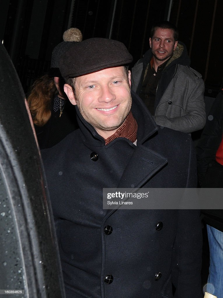 Demot O'Learly leaving The Groucho Bar Restaurant on January 29, 2013 in London, England.
