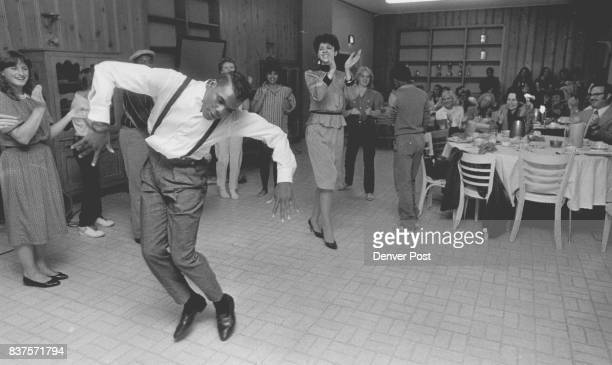 Den Childrens Home 1501 Albion Cleo Parker Robinson Dancing with kids at the home here we have a shot of Leon Ray Dancing away He'll be attending...