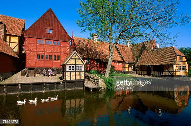 Den Gamle By old town buildings, Arhus, Denmark, Europe
