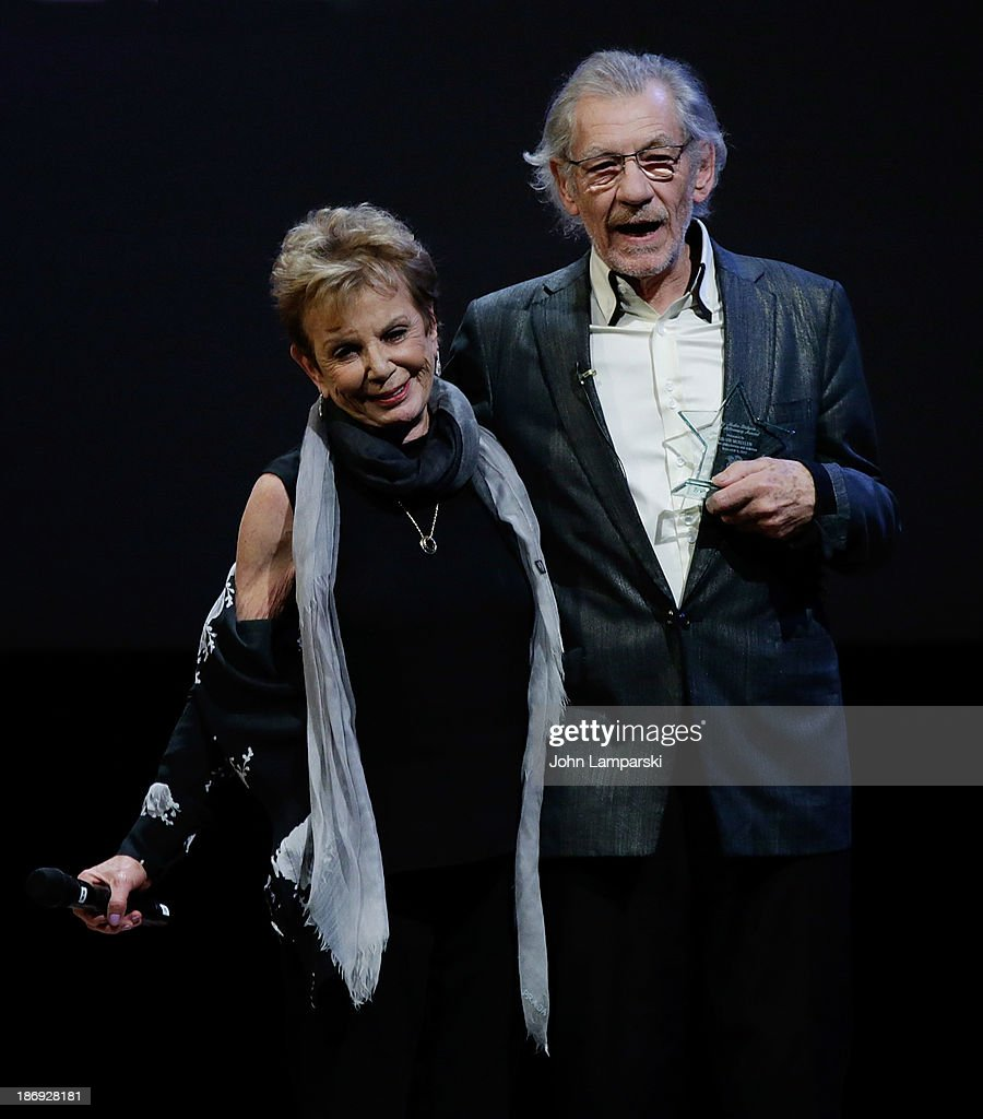 Dena Hammerstein and Sir Ian McKellan attend the 14th annual Make Believe On Broadway gala>> at The Bernard B. Jacobs Theatre on November 4, 2013 in New York City.