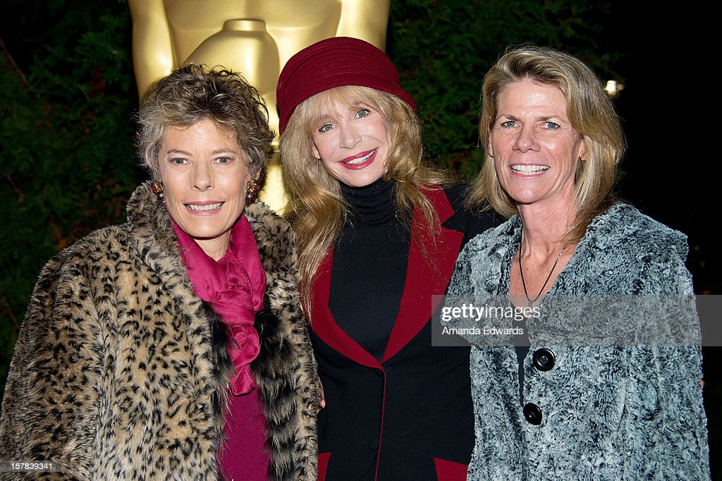 Dena Kaye, actress <a gi-track='captionPersonalityLinkClicked' href=/galleries/search?phrase=Mary+Crosby&family=editorial&specificpeople=799465 ng-click='$event.stopPropagation()'>Mary Crosby</a> and Monsita Ferrer arrive at the Academy of Motion Picture Arts and Sciences' Oscars outdoors screening of 'White Christmas' on December 6, 2012 in Hollywood, California.