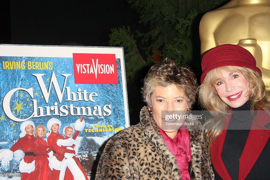 Dena Kaye (L) and <a gi-track='captionPersonalityLinkClicked' href=/galleries/search?phrase=Mary+Crosby&family=editorial&specificpeople=799465 ng-click='$event.stopPropagation()'>Mary Crosby</a> attend the Academy Of Motion Picture Arts and Sciences' presents it's a 'White Christmas' held at Oscars Outdoors on December 6, 2012 in Hollywood, California.