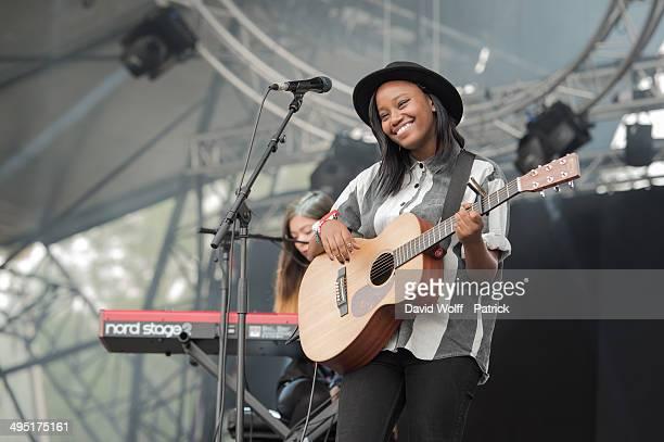 Denai Moore performs at We Love Green Festival at on June 1 2014 in Paris France