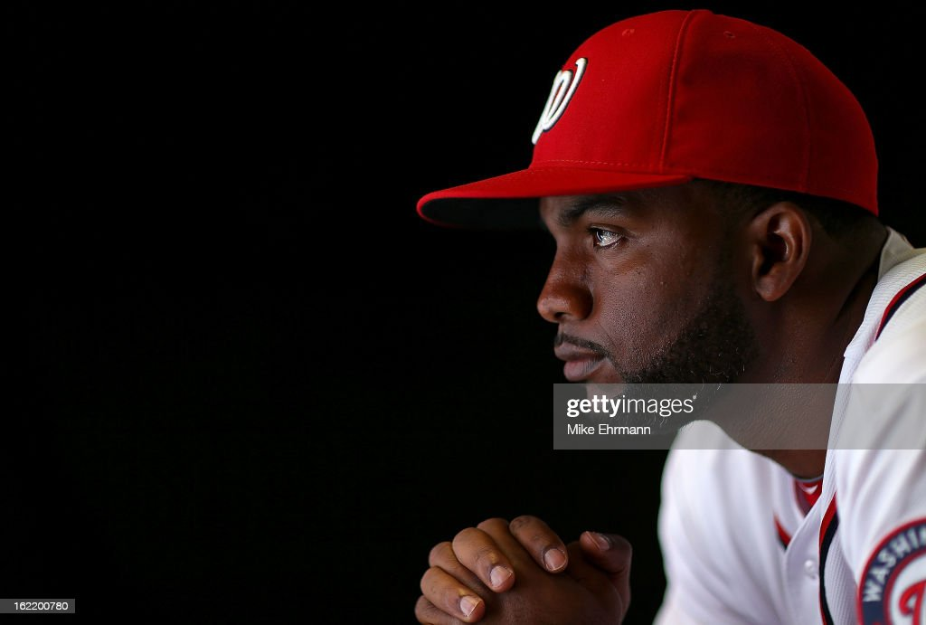 <a gi-track='captionPersonalityLinkClicked' href=/galleries/search?phrase=Denard+Span&family=editorial&specificpeople=835844 ng-click='$event.stopPropagation()'>Denard Span</a> #2 of the Washington Nationals poses for a portrait during photo day at Space Coast Stadium on February 20, 2013 in Viera, Florida.