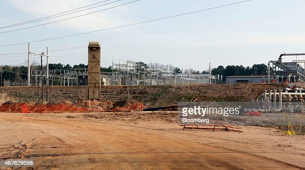 A Denbury Onshore compressor station stands in Heidelberg Mississippi US on Tuesday Feb 25 2014 Photographer Gary Tramontina/Bloomberg via Getty...