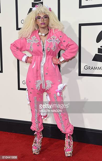 Dencia arrives on the red carpet for the 58th Annual Grammy music Awards in Los Angeles February 15 2016 AFP PHOTO/ VALERIE MACON / AFP / VALERIE...