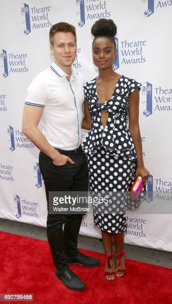 Denee Benton and boyfriend attend the 73rd Annual Theatre World Awards at The Imperial Theatre on June 5 2017 in New York City
