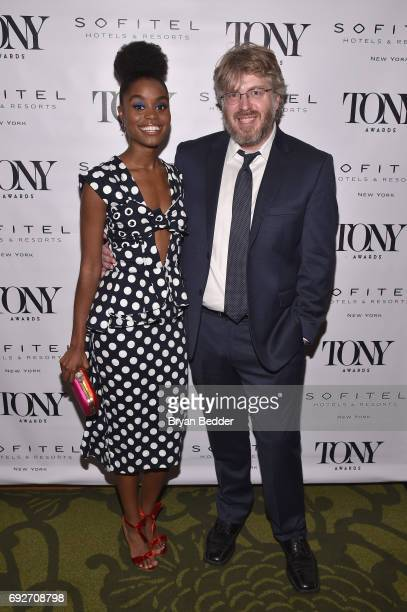 Denee Benton and Dave Malloy attends the Tony Honors Cocktail Party presenting the 2017 Tony Honors for excellence in the theatre and honoring the...
