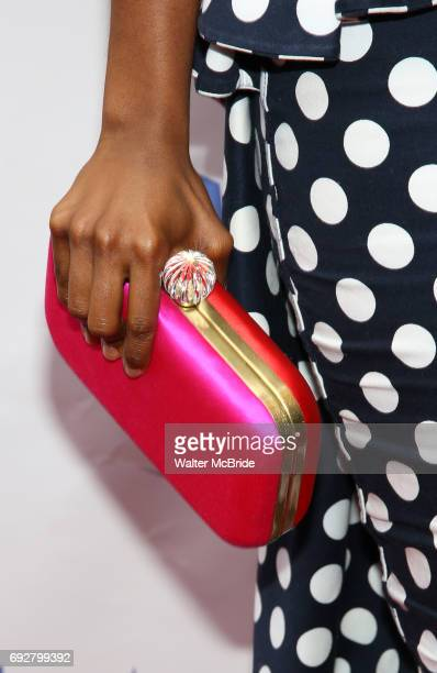 Denee Benton handbag detail attends the 73rd Annual Theatre World Awards at The Imperial Theatre on June 5 2017 in New York City