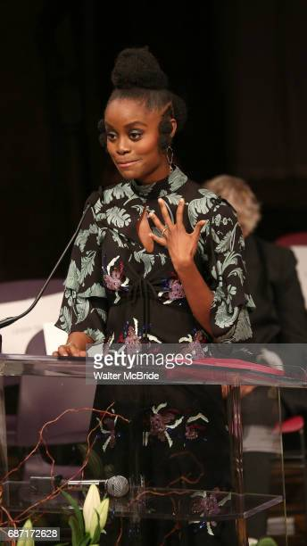 Denee Benton on stage at the 2017 The Lilly Awards at Playwrights Horizons on May 22 2017 in New York City