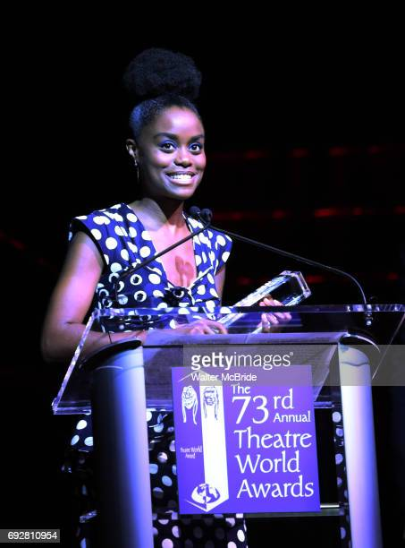 Denee Benton on stage during the 73rd Annual Theatre World Awards at The Imperial Theatre on June 5 2017 in New York City
