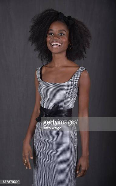 Denee Benton poses at the 2017 Tony Awards Meet The Nominees press junket portrait studio at Sofitel New York on May 3 2017 in New York City