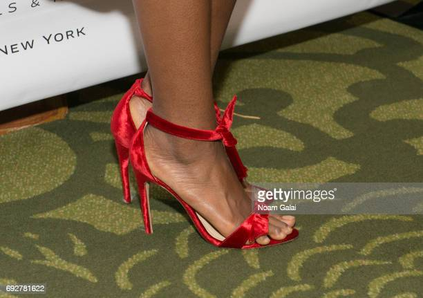 Denee Benton shoe detail attends the 2017 Tony Honors cocktail party at Sofitel Hotel on June 5 2017 in New York City