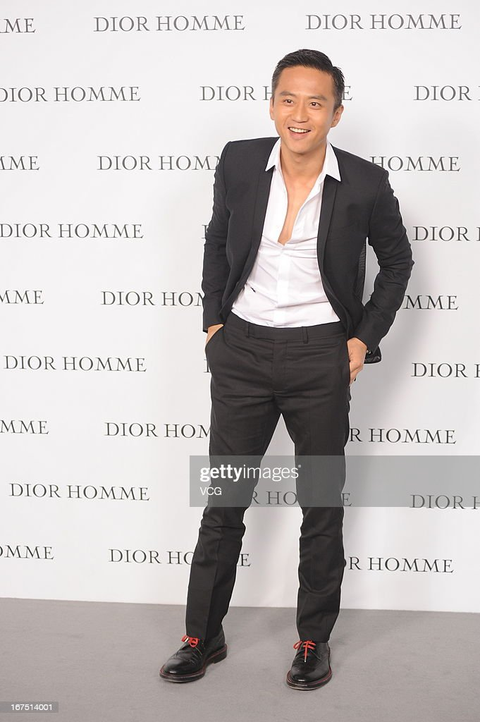 Deng Chao attends the Dior Homme F/W 2013 Menswear Collection Show on April 25, 2013 in Beijing, China.