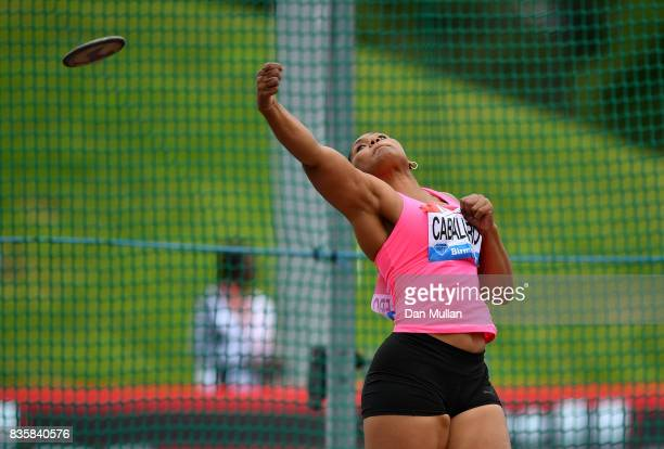 Denia Caballero of Cuba competes in the Womens Discus during the Muller Grand Prix Birmingham meeting on August 20 2017 in Birmingham United Kingdom