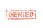 A stock photo of an denied stamp.