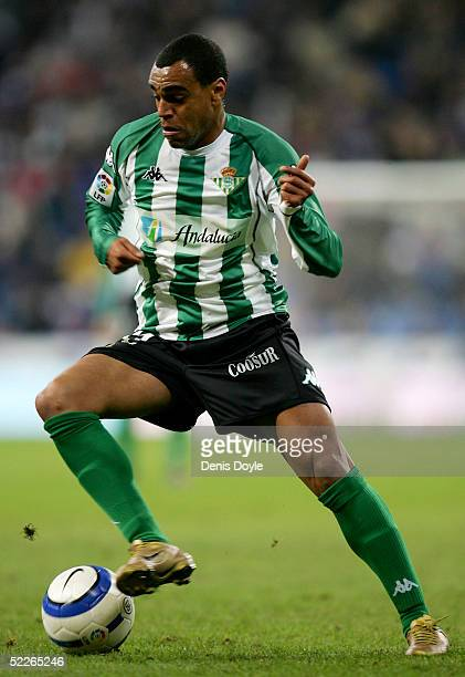 Denilson of Betis in action during the La Liga match between Real Madrid and Real Betis on March 2 2005 at the Bernabeu in Madrid Spain