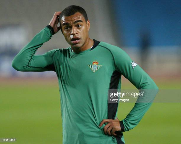 Denilson of Real Betis in action during the Primera Liga match between Espanyol and Real Betis played at the Olympic Montjuic Stadium Barcelona Spain...