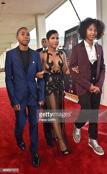 Denim Cole BraxtonLewisToni Braxton and Diezel Ky BraxtonLewis arrive at the UNCF 'An Evening of Stars' at Boisfeuillet Jones Atlanta Civic Center on...
