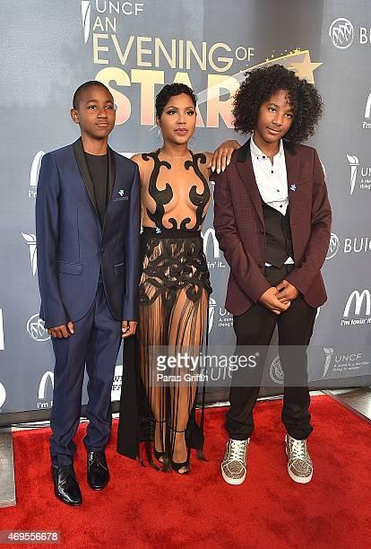 Denim Cole BraxtonLewisToni Braxton and Diezel Ky BraxtonLewis attend the UNCF 'An Evening of Stars' at Boisfeuillet Jones Atlanta Civic Center on...
