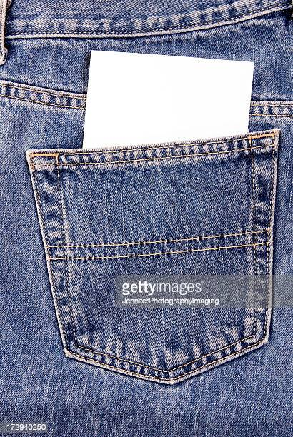Denim Pocket with notecard