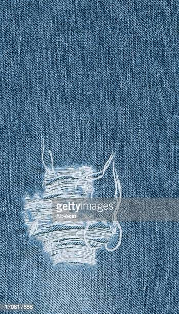 Denim texture with hole
