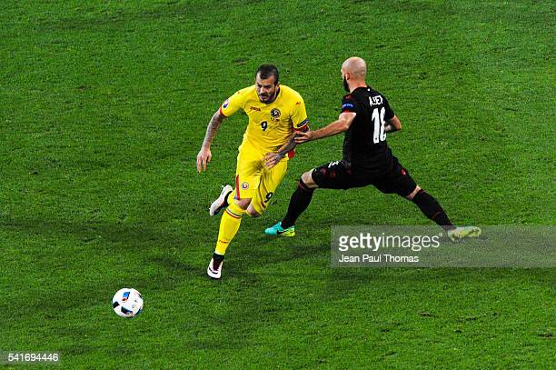 Denis ALIBEC of Romania during the UEFA EURO 2016 Group A match between Romania and Albania at Stade des Lumieres on June 19 2016 in Lyon France