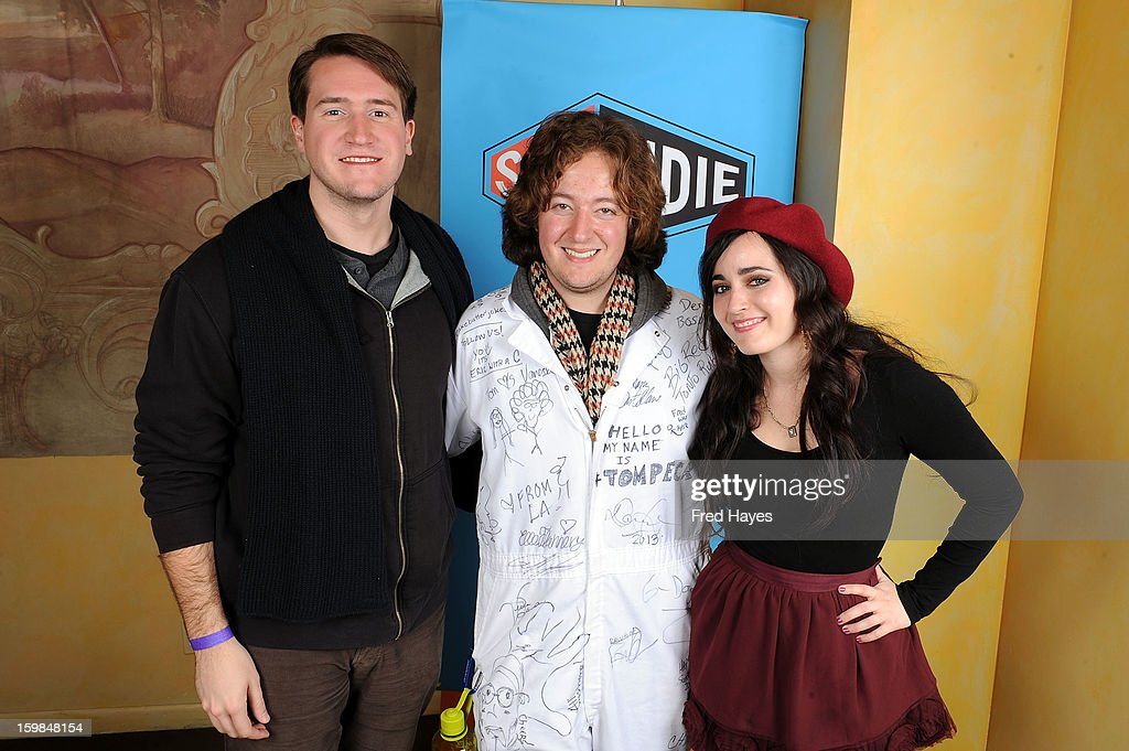 Denis Bosnjakovic , Tom Peck and Vanessa Elgrichi attend the SAGIndie Brunch at Cafe Terigo on January 21, 2013 in Park City, Utah.