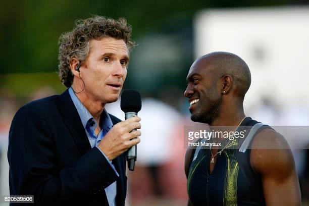 Denis BROGNIART / Allen JOHNSON 110m haies Alma Athle Tour 2009 Stade Georges Hebert Reims