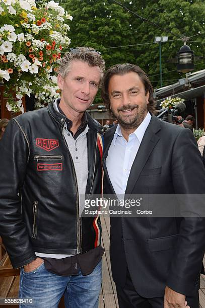 Denis Brogniart and Henri Leconte at Roland Garros Village