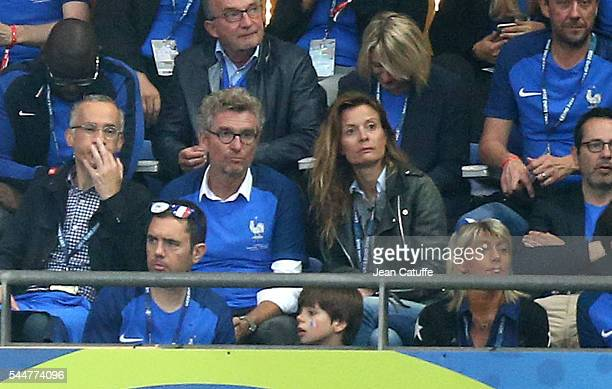 Denis Brogniart and his wife Hortense Brogniart attend the UEFA Euro 2016 quarter final match between France and Iceland at Stade de France on July 3...