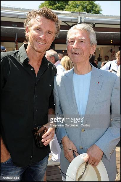 Denis Brogniart and Jean Claude Narcy at Roland Garros Village