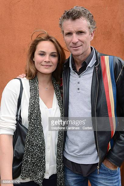 Denis Brogniart and Melanie Maudran at Roland Garros Village