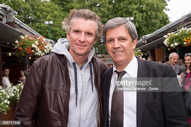 Denis Brogniart and Patrick Chene attend Roland Garros Tennis French Open 2013