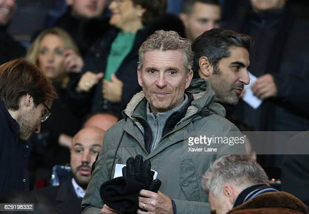 Denis Brogniart attends the French Ligue 1 match between Paris SaintGermain and OGC Nice at Parc des Princes on december 11 2016 in Paris France