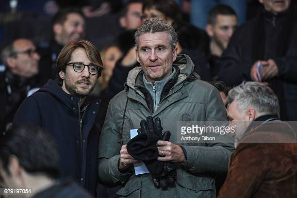 Denis Brogniart during the French Ligue 1 match between Paris Saint Germain and Nice at Parc des Princes on December 11 2016 in Paris France