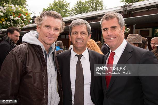 Denis Brogniart Patrick Chene and Marc Maury attend Roland Garros Tennis French Open 2013