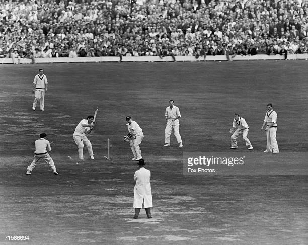 Denis Compton in action during England Test Match against Australia at the Oval London 19th August 1953