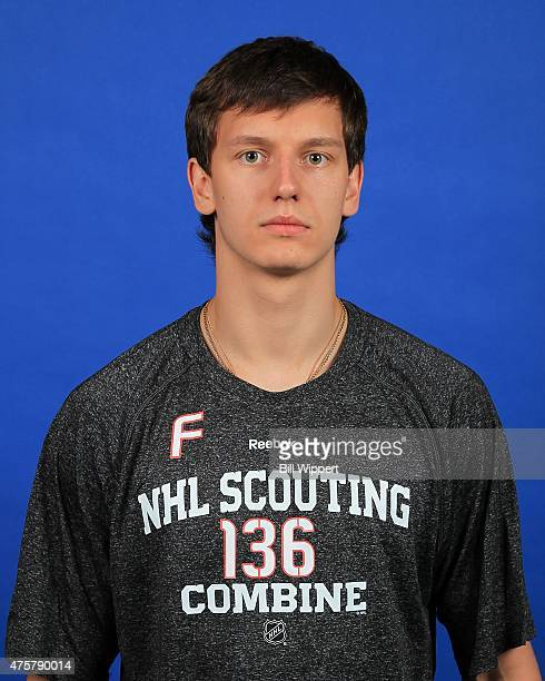 Denis Gurianov poses for a headshot at the NHL Combine at HarborCenter on June 3 2015 in Buffalo New York